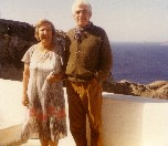 With husband Ben Karp, Sanitori, Greece, 1984