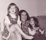 Vivian with grandchildren Dora and Keli, 1975